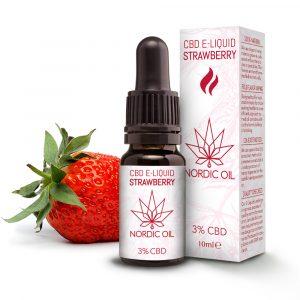Nordic Oil CBD e-væske med jordbær