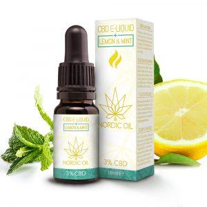 Nordic Oil CBD e-væske med citron og mint